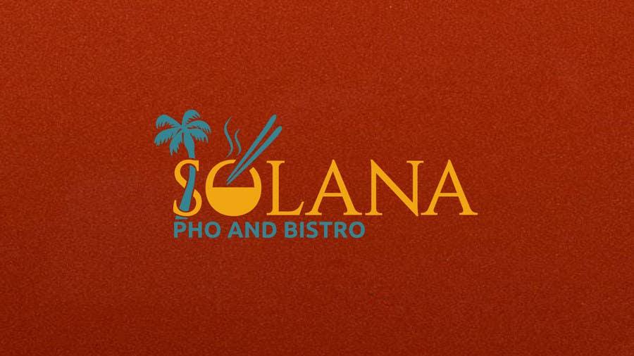 Tävlingsbidrag #30 för Design a Logo for Solana Pho & Bistro