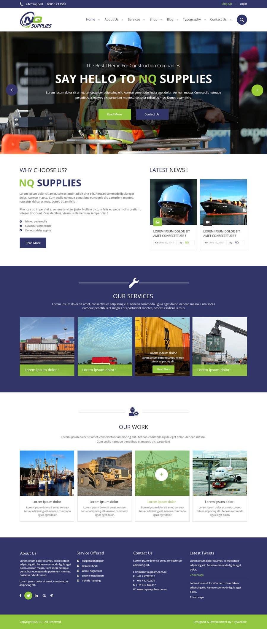Participación en el concurso Nro.23 para Build a Website for North Queensland Supplies