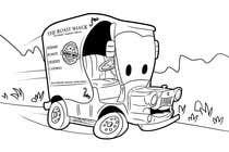 "Graphic Design Intrarea #11 pentru concursul ""Illistrate a cartoon version of our promo car - Kids Colouring in Competition"""