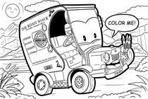 Graphic Design コンテストエントリー #45 for Illistrate a cartoon version of our promo car - Kids Colouring in Competition