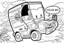 "Graphic Design Intrarea #45 pentru concursul ""Illistrate a cartoon version of our promo car - Kids Colouring in Competition"""