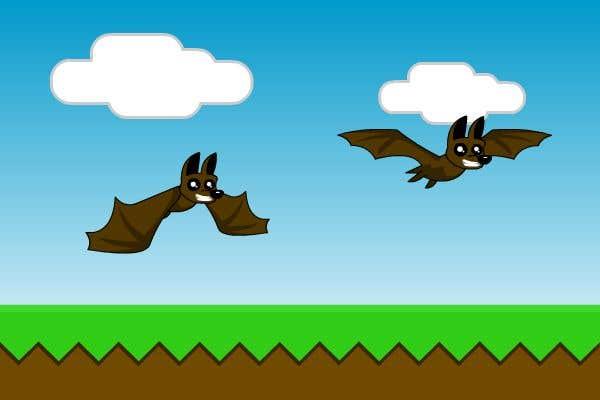 Contest Entry #                                        3                                      for                                         2D fly animation Batt + 2D die animation virus.