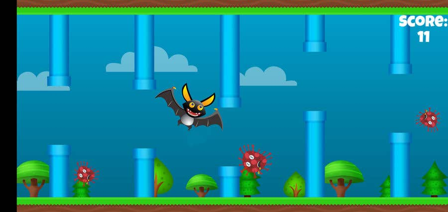 Contest Entry #                                        1                                      for                                         2D fly animation Batt + 2D die animation virus.