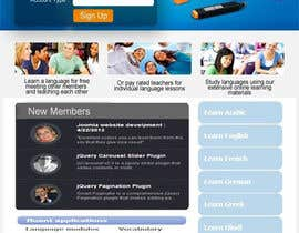 #9 for http://www.fluentfuture.com/ - language exchange home page design af SkyDevelopers