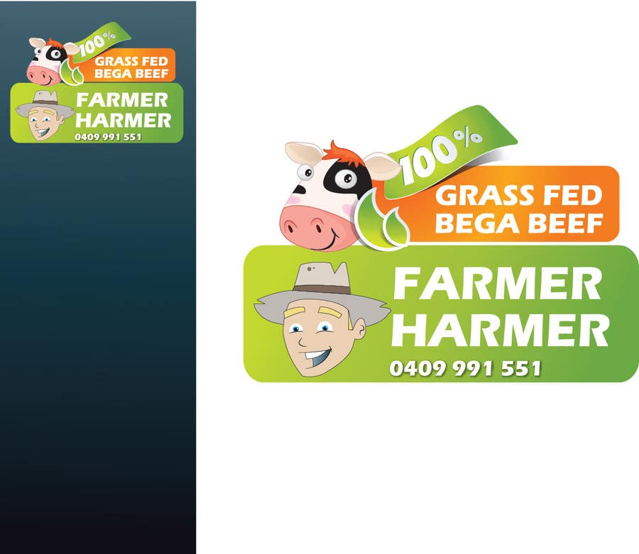 Contest Entry #24 for Logo Design for Farmer Harmer Grass Fed Beef