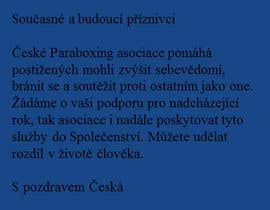 #17 pentru Presentation of Czech ParaBoxing Association de către bikerangel62