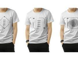 #77 para design t-shirt templates for personalized text shirts de ivetpro1002