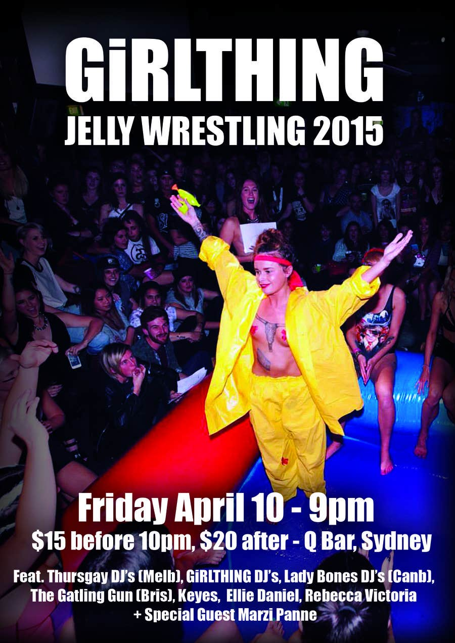 Contest Entry #1 for Design a Flyer for Jelly Wrestling Competition