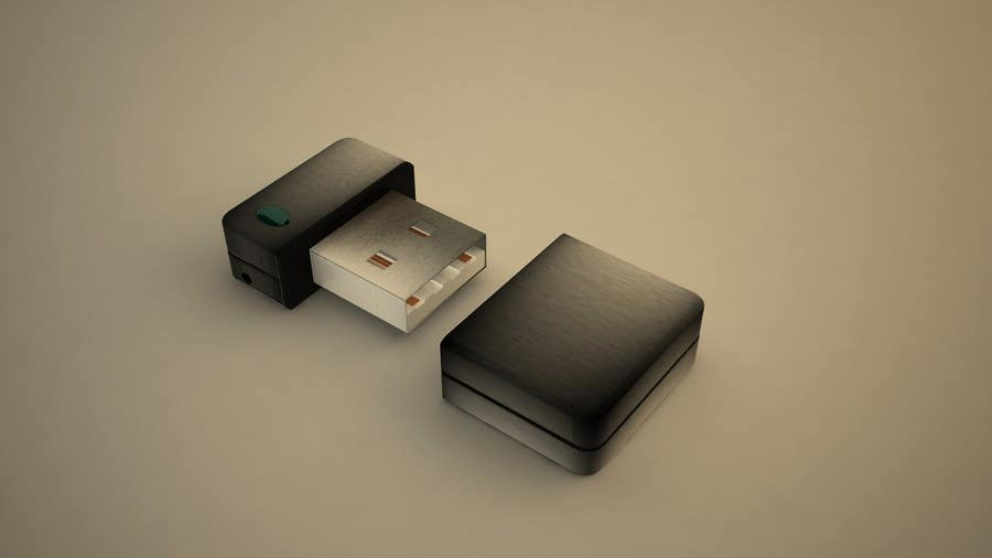 Contest Entry #4 for 3D Design of USB Thumb Drive Enclosure