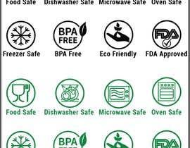 #26 untuk Create 8 food safe symbols for packaging oleh shoharab