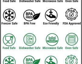 #27 untuk Create 8 food safe symbols for packaging oleh shoharab