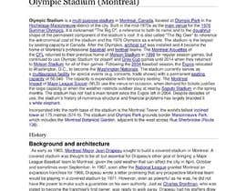 #8 для Write A Story About The Olympic Stadium Of Montreal от advicebdofficial