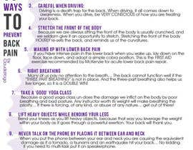 #1 cho Design a Flyer for 11 Ways To Prevent Back Pain by ClaudiaYoga bởi ivegotlost