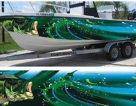 Nro 17 kilpailuun Graphic design for boat wraps käyttäjältä muaazbintahir