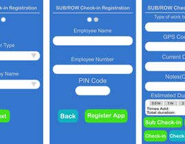 jelic tarafından App Mockup for App Check-in and Registration Screen için no 2