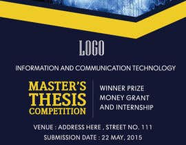 #11 for Design a Flyer for a master's thesis prize (ICT related topics) by abhikreationz