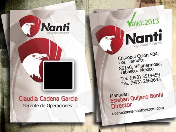 Inscrição nº 15 do Concurso para ID Badge for Nanti System