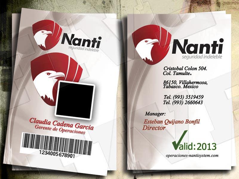 Inscrição nº 22 do Concurso para ID Badge for Nanti System