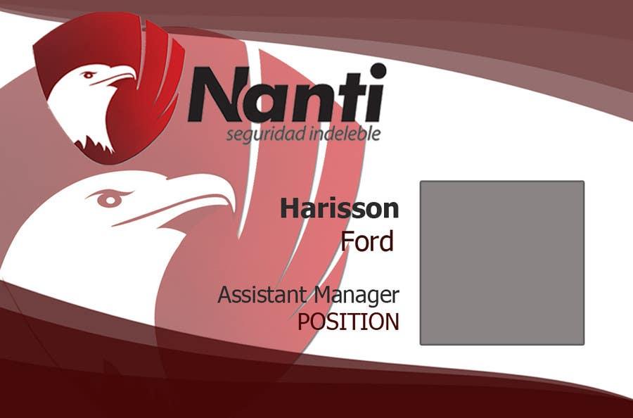 Inscrição nº 14 do Concurso para ID Badge for Nanti System