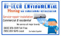 Graphic Design Kilpailutyö #8 kilpailuun Business Card Deign for Heating & Air Conpany
