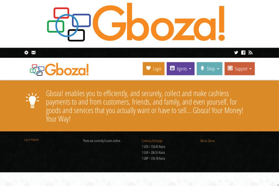 Kilpailutyö #52 kilpailussa Logo Design for Gboza!