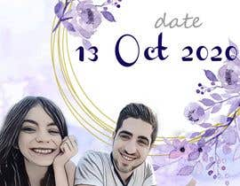 "#7 pёr The pictures of me and my boyfriend is attached.please design wedding invitation with our characters - the upper headline need to be ""save the date"" and under the couple painting need to be 13.10.20. Please make the characters realistic. nga jayvikk"