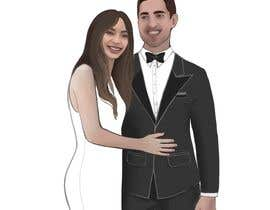"""#16 for The pictures of me and my boyfriend is attached.please design wedding invitation with our characters - the upper headline need to be """"save the date"""" and under the couple painting need to be 13.10.20. Please make the characters realistic. by StefaniaSaftoiu"""