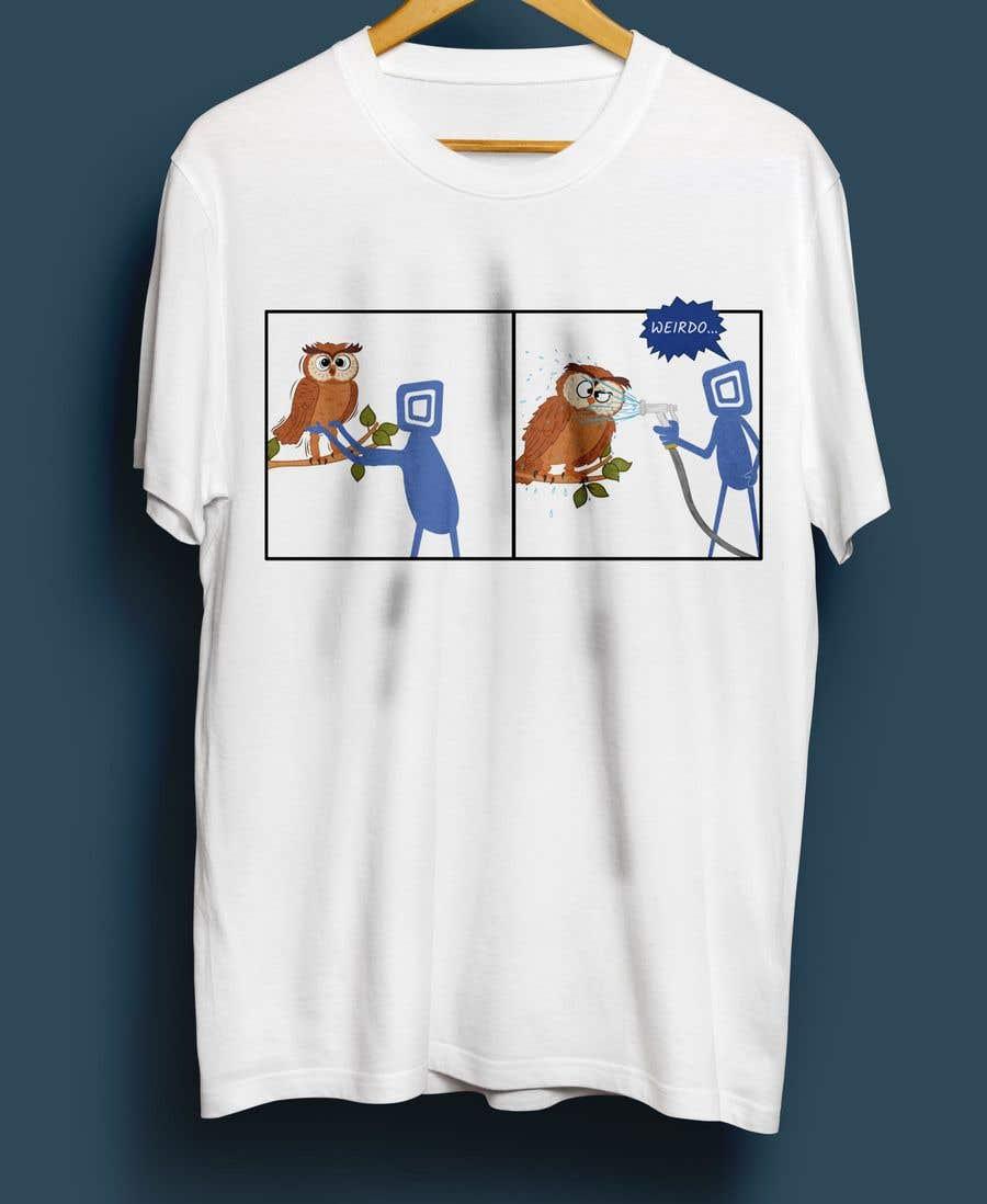 Penyertaan Peraduan #                                        34                                      untuk                                         Design for T-Shirt/Hoodie (Stick man and an owl details in descripition
