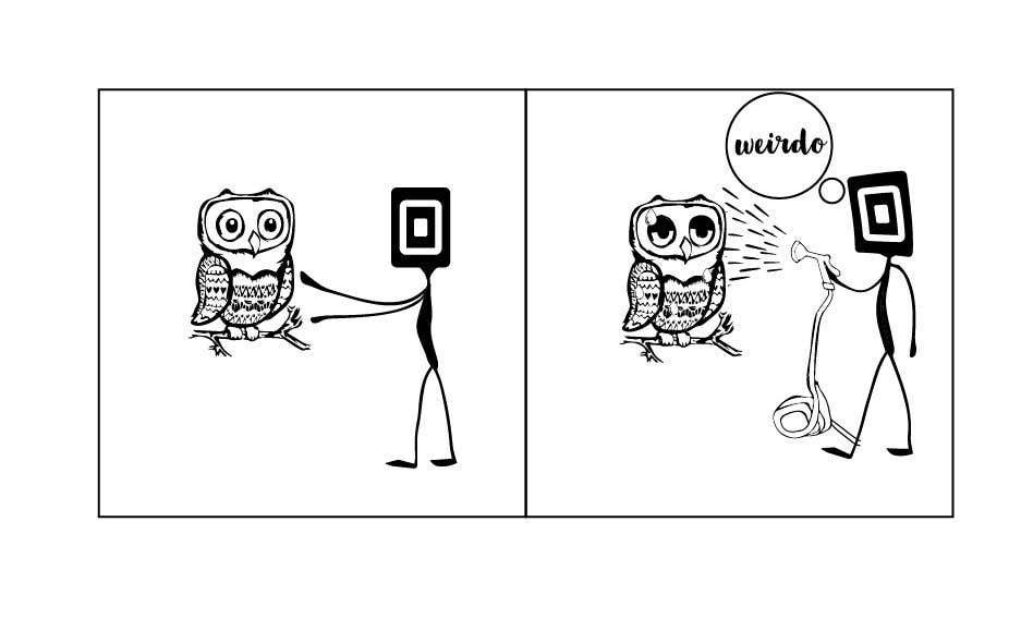 Penyertaan Peraduan #                                        4                                      untuk                                         Design for T-Shirt/Hoodie (Stick man and an owl details in descripition