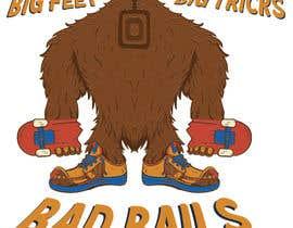 #33 cho Design for T-Shirt Hoodie (Bigfoot, altered head, broken skateboard, broken shoes) bởi marianacadavidg