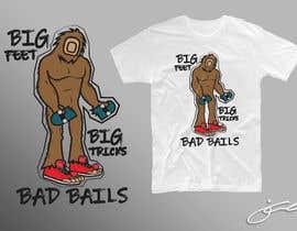 #31 cho Design for T-Shirt Hoodie (Bigfoot, altered head, broken skateboard, broken shoes) bởi jcblGD