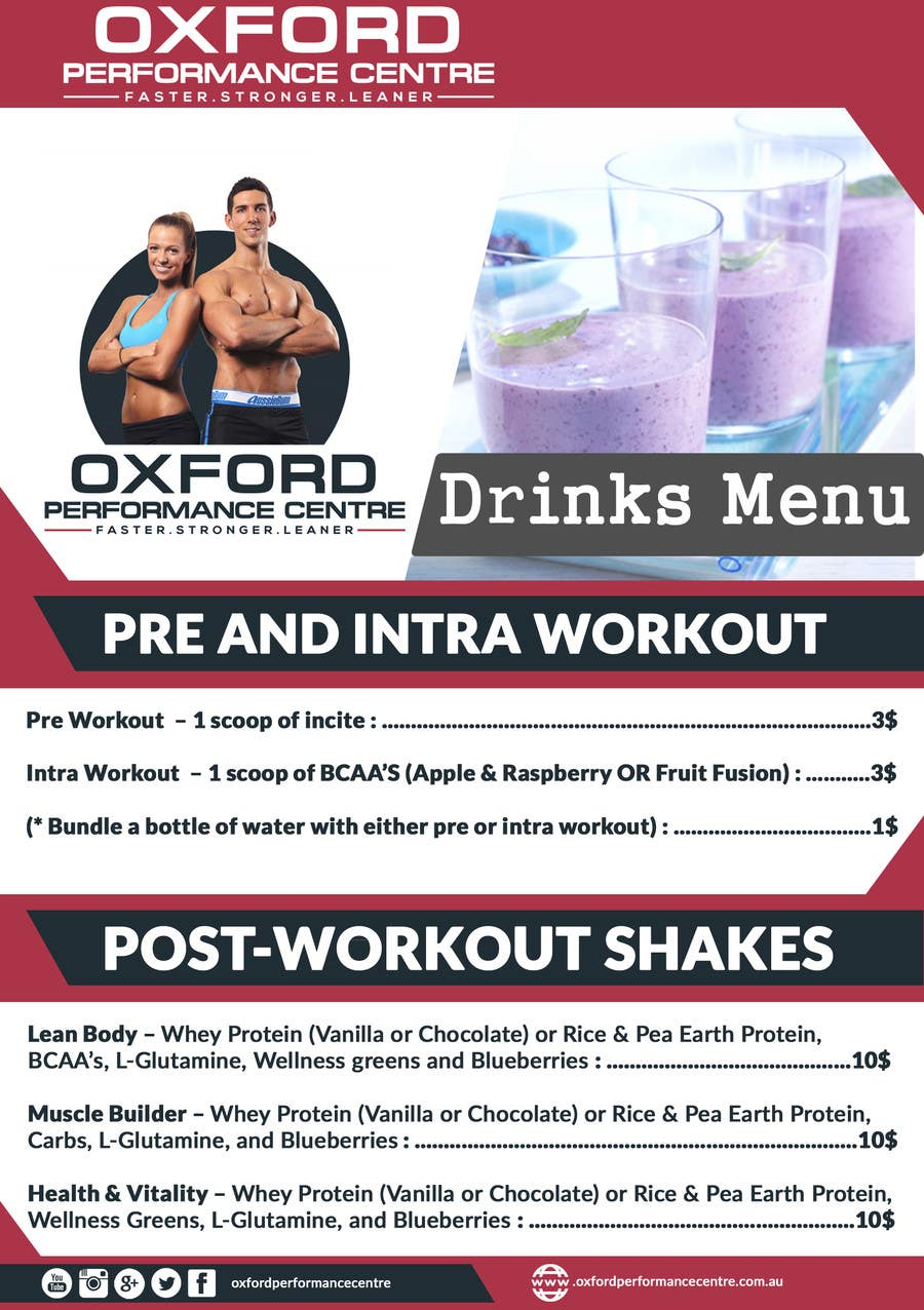 Contest Entry #11 for Design a Flyer for a Protein Shake Menu