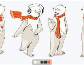 #47 for Design a cartoon character: cute metalhead polar bear by Sandipan01