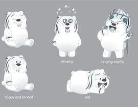 #44 for Design a cartoon character: cute metalhead polar bear by AngieRo