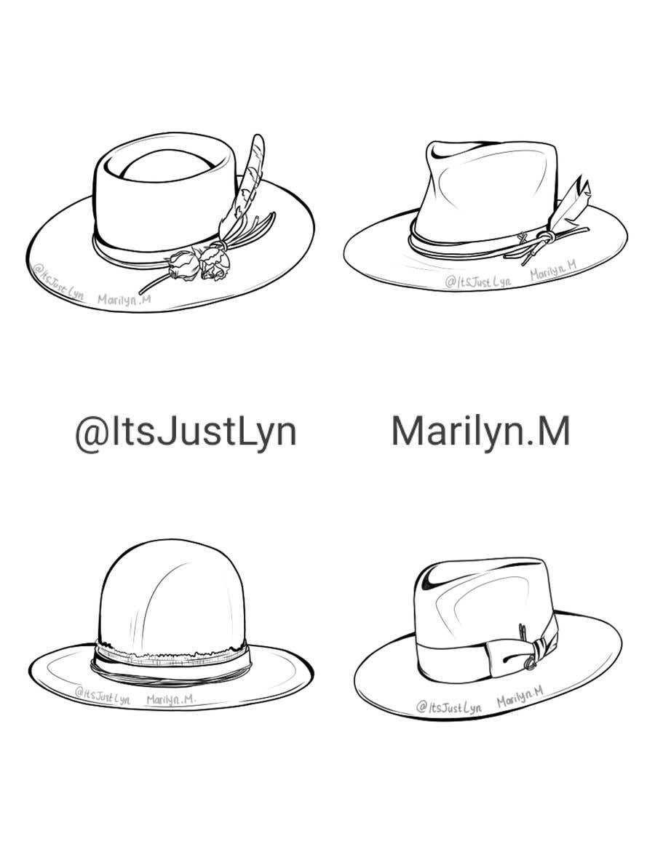 Kilpailutyö #                                        18                                      kilpailussa                                         Simple Hat Sketches