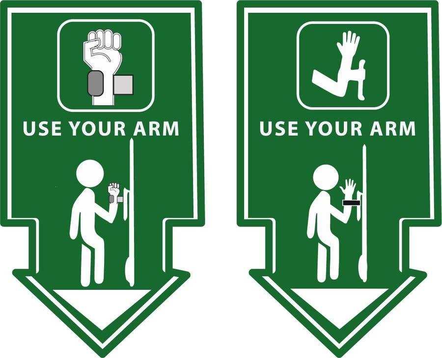 Конкурсная заявка №                                        22                                      для                                         hand free arm puller door sign