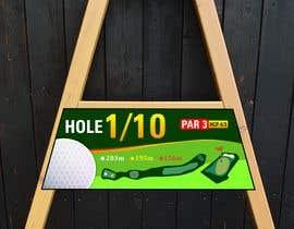 #13 cho golf hole info board design bởi mughal8723