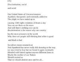 Nro 22 kilpailuun rewrite song lyrics to make it modern political or social käyttäjältä eltutor80