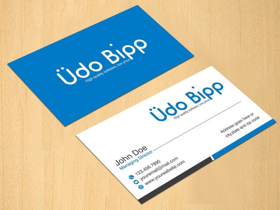 Penyertaan Peraduan #55 untuk Design some Business Cards for Udo Bipp