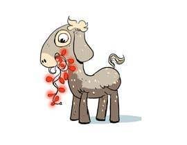 #7 cho Cartoon goat eating christmas lights bởi MokhtarZain