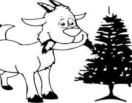 #3 cho Cartoon goat eating christmas lights bởi umerwaheed0348