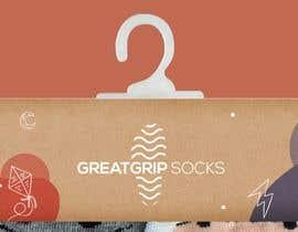 Nro 28 kilpailuun PACKAGING DESIGN for children's socks käyttäjältä bebbytang