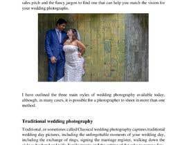 mmansur75 tarafından Write blog article - Wedding Photography için no 20