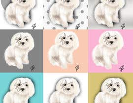 #30 for Dog portrait illustration by silviagai