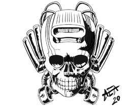 #16 for Illustrate a Skull with Pistons or Supercharger by GatoCangrejo