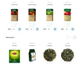 #42 cho landing page design for a coffee and tea online store bởi Shvec