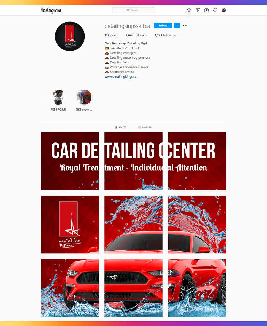 Contest Entry #                                        11                                      for                                         Design an Instagram puzzle template + brand kit for a Car Detailing business