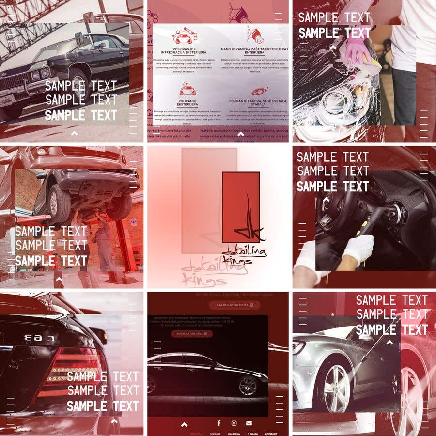 Contest Entry #                                        39                                      for                                         Design an Instagram puzzle template + brand kit for a Car Detailing business