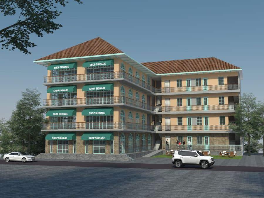Bài tham dự cuộc thi #                                        31                                      cho                                         3 D Elevation for a Commercial Building