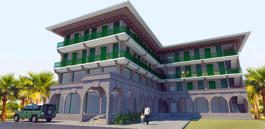 Bài tham dự cuộc thi #                                        29                                      cho                                         3 D Elevation for a Commercial Building